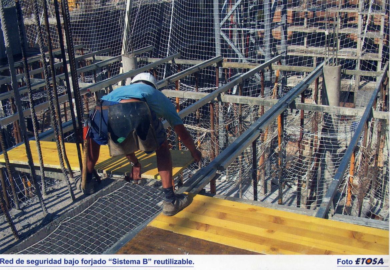 Norma UNE 81652:2013 redes de seguridad bajo forjado requisitos de seguridad y métodos de ensayo