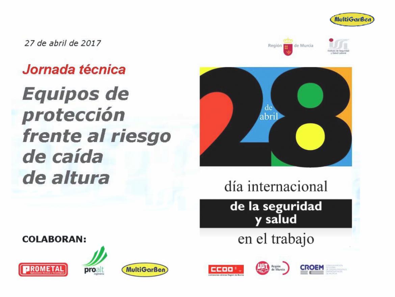 """MultiGarBen: jornada técnica """"dispositivos de anclaje"""" ISSL-Región de Murcia"""